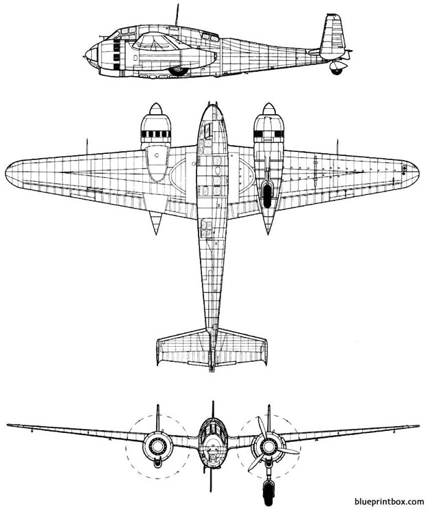 breguet br 693 model airplane plan