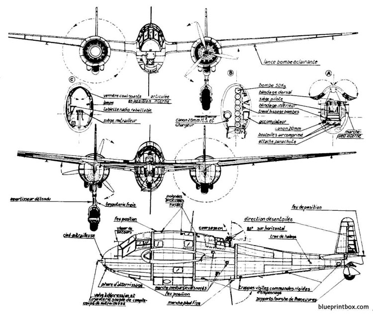 breguet br 695 3 model airplane plan