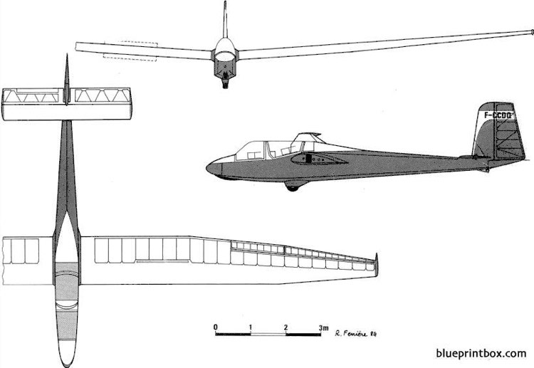 breguet br 902 model airplane plan