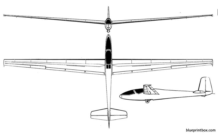 breguet br 904 nymphale model airplane plan