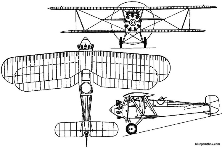 bristol f2c badger 1919 england model airplane plan