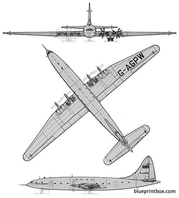 bristol type 167 brabazon model airplane plan