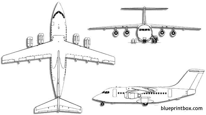 british aerospace bae 146 model airplane plan