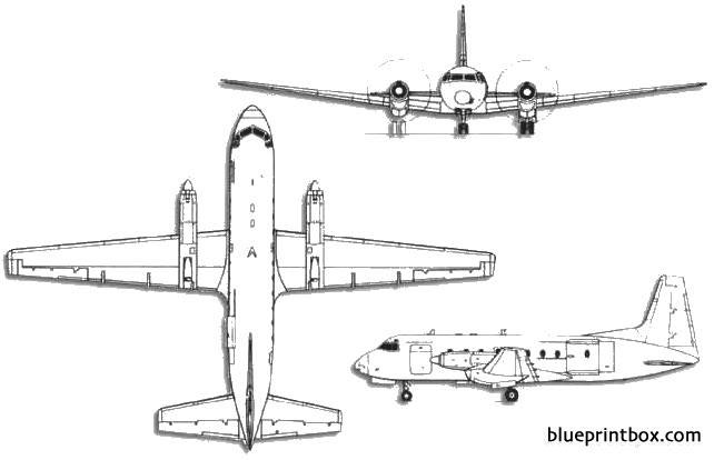 british aerospace bae 748 model airplane plan