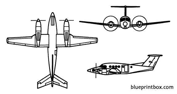 c 12 super king air model airplane plan