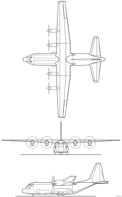 c 130b hercules model airplane plan