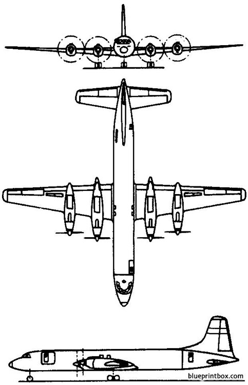 canadair cl 44 forty four 1960 canada model airplane plan