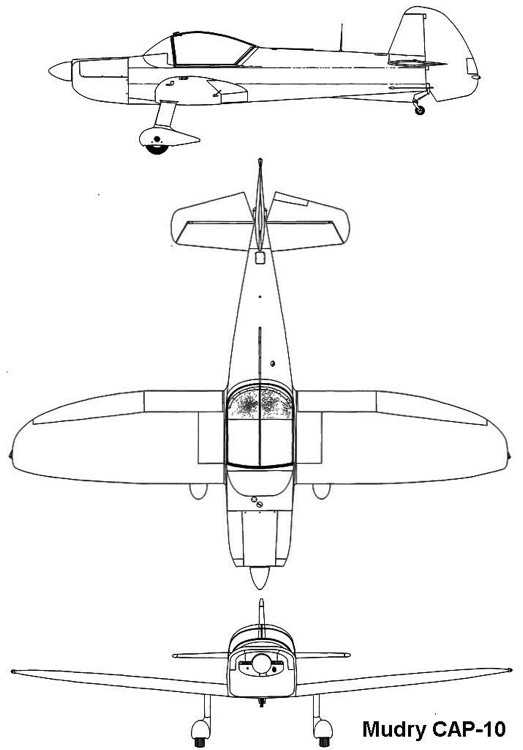 cap10 3v model airplane plan