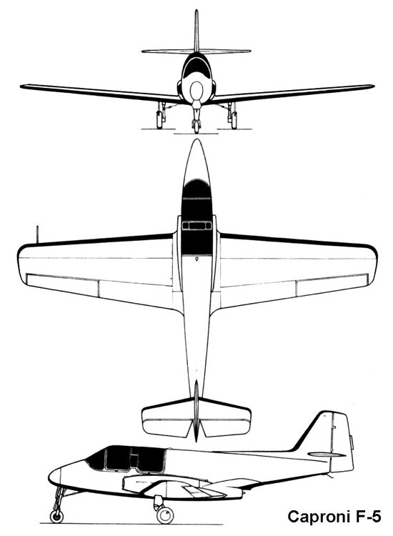 caproni f5 3v model airplane plan