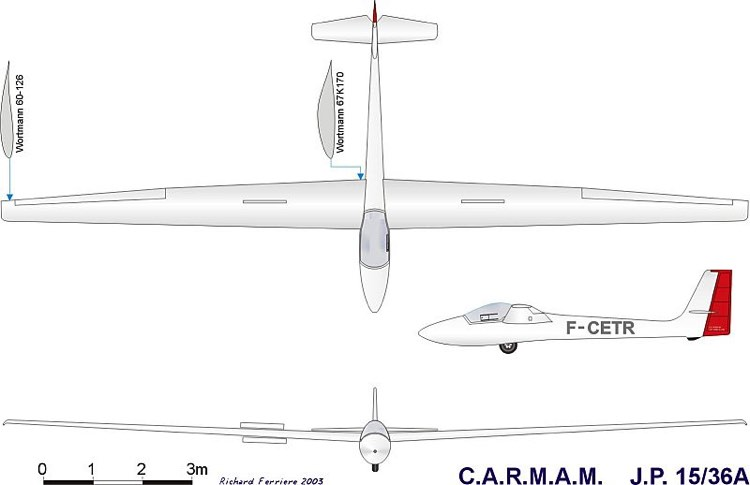 carmam jp15 36 3vues model airplane plan