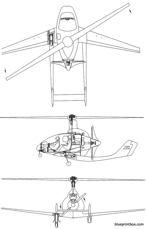 cartercopter model airplane plan