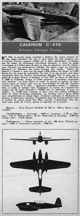 caudron670 model airplane plan