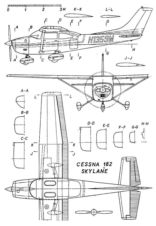 cessna182 3v model airplane plan