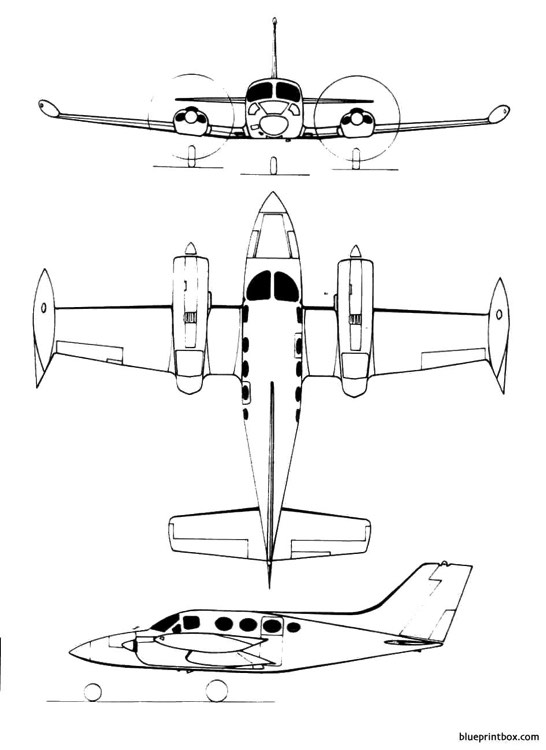 cessna 421 model airplane plan