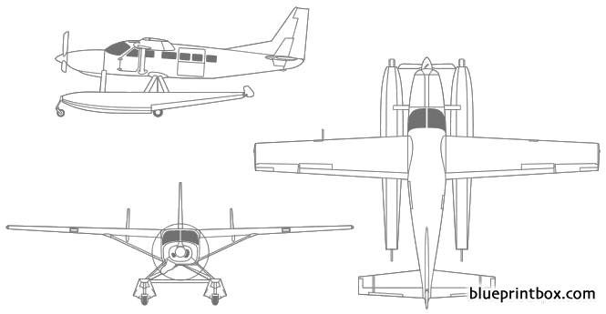 cessna caravan amphibian model airplane plan