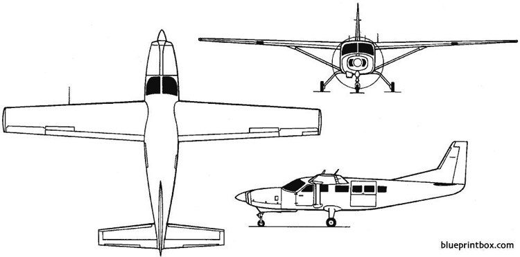 cessna model 208 caravan 1982 usa model airplane plan