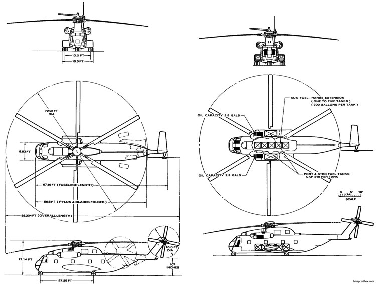 ch 53d model airplane plan