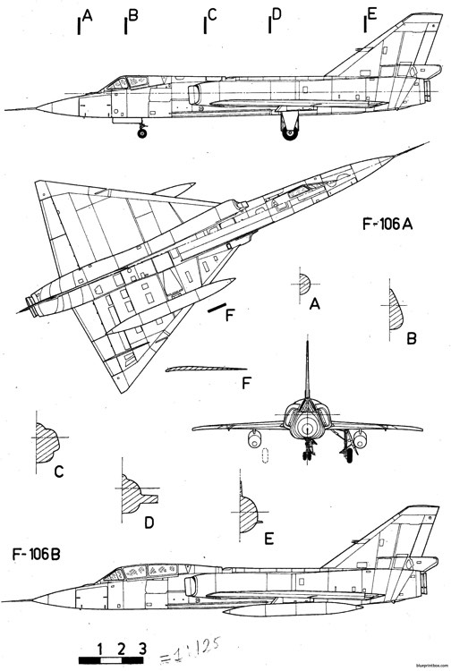 convair f 106 delta dart 3 model airplane plan