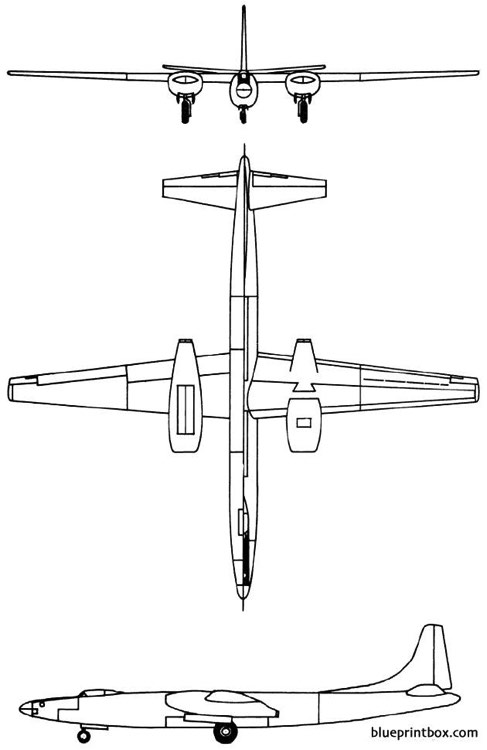 convair xb 46 1947 usa model airplane plan
