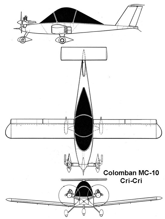 cricri 3v model airplane plan