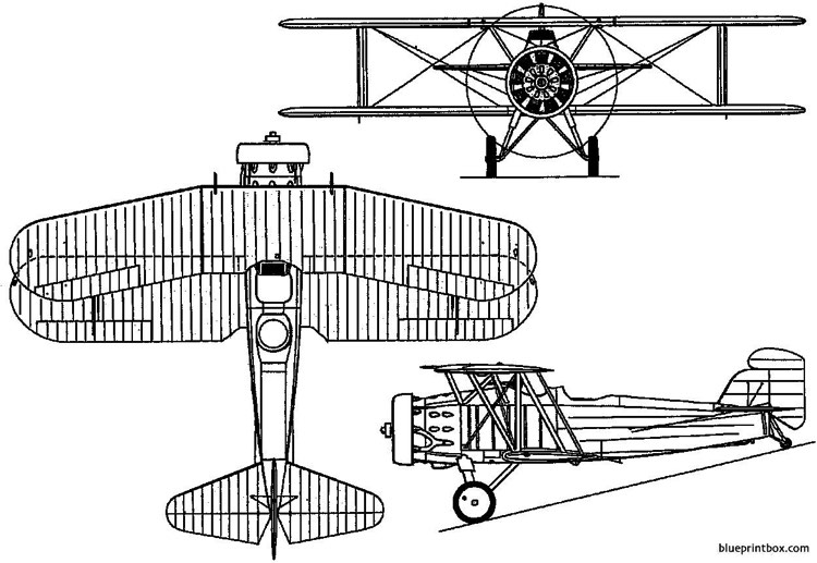 curtiss f8c 4 5  o2c 1 helldiver 1929 usa model airplane plan