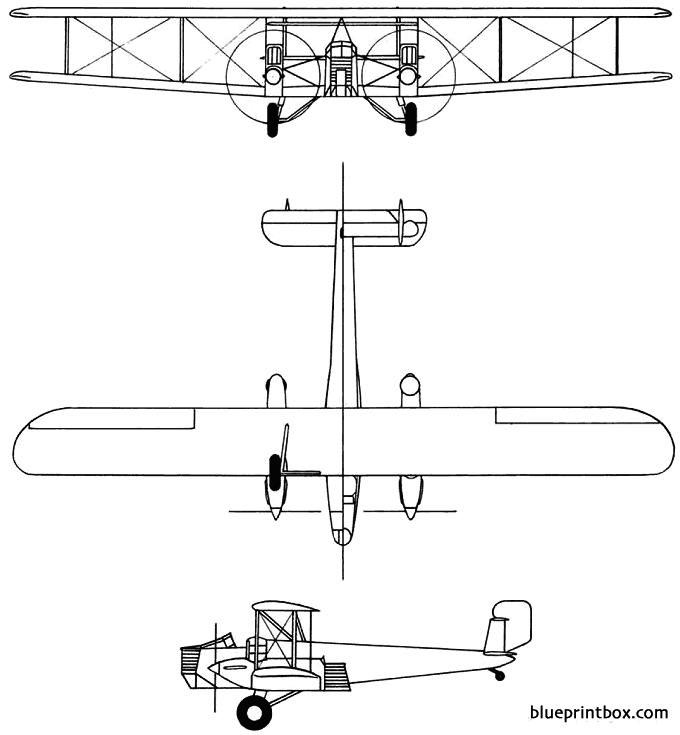 curtiss xb 2 condor 1927 usa model airplane plan