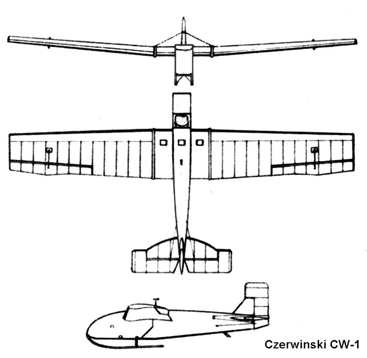 cw1 3v model airplane plan