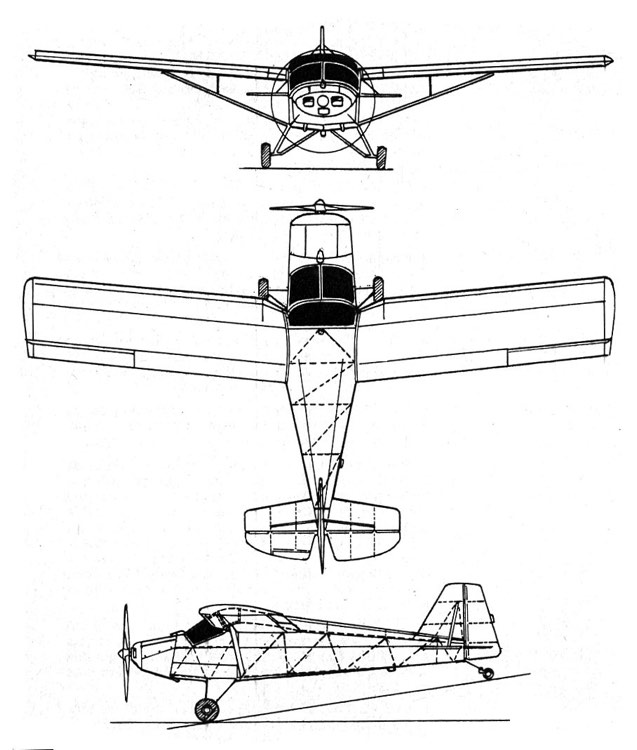 cygnet 3v model airplane plan