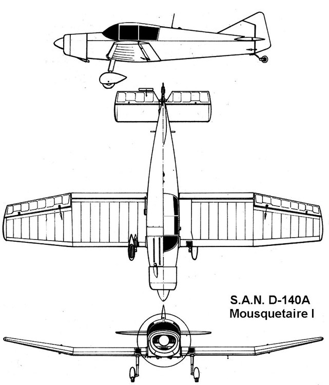 d140 3v model airplane plan