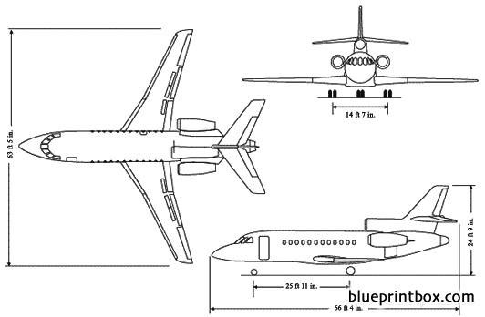dassault falcon 900dx model airplane plan