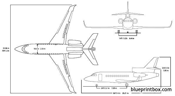 dassault falcon 900lx model airplane plan