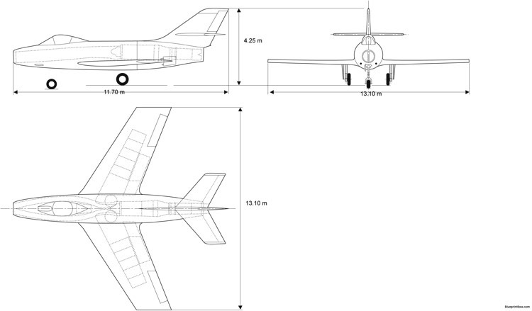 dassault md452 c model airplane plan