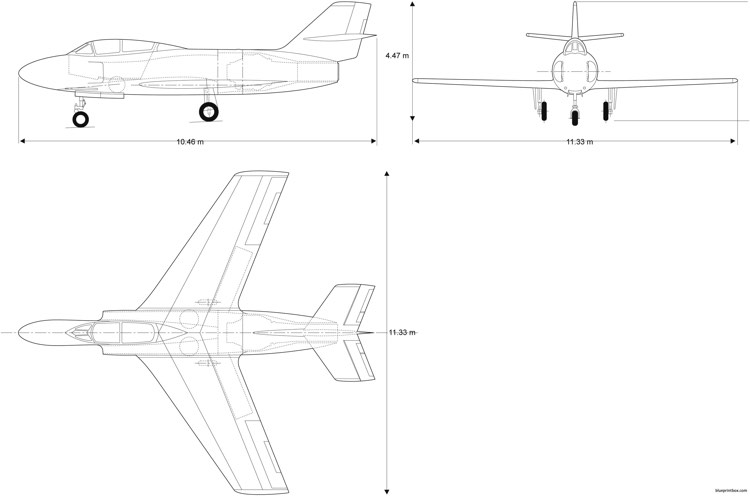 dassault md453 model airplane plan