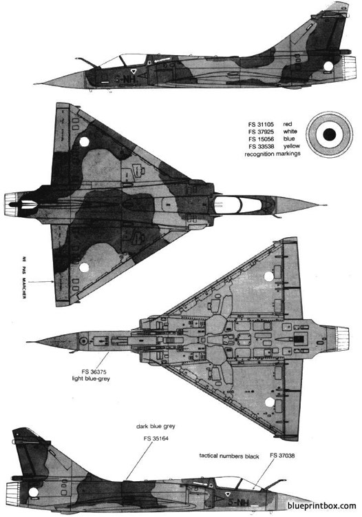 dassault mirage 2000 4 model airplane plan