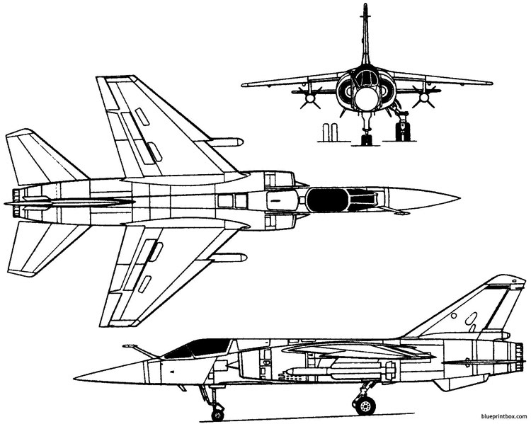 dassault mirage f1 1966 france model airplane plan