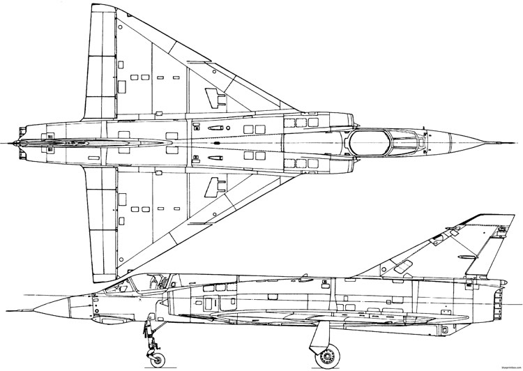 dassault mirage iii model airplane plan