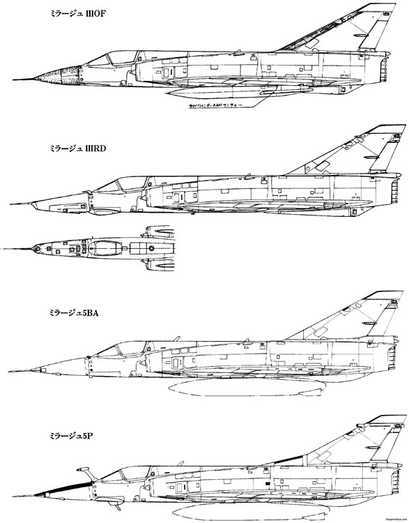 dassault mirage iii 8 model airplane plan