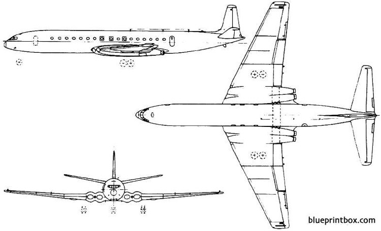 de havilland dh106 comet 1949 england model airplane plan