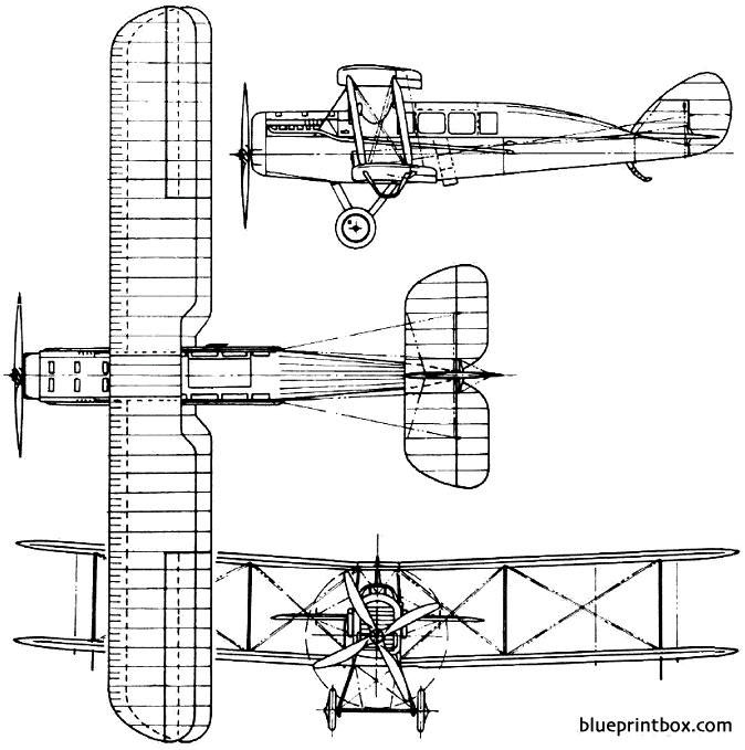 de havilland dh16 1919 england model airplane plan