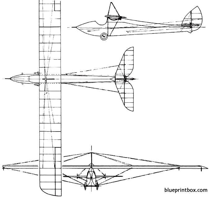 de havilland dh52 1922 england model airplane plan