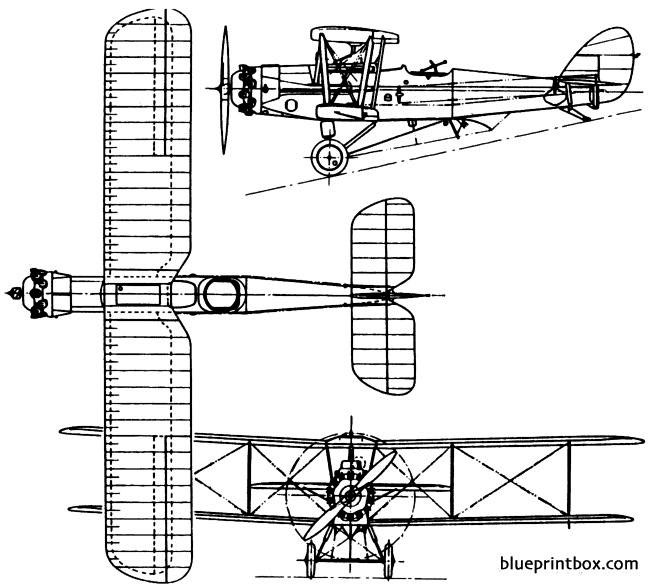 de havilland dh56 hyena 1925 england model airplane plan