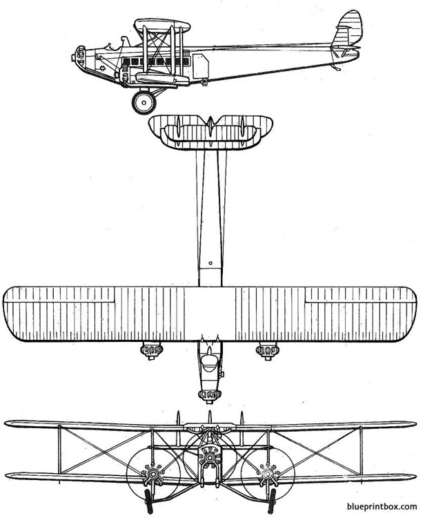 de havilland dh 66 hercules model airplane plan