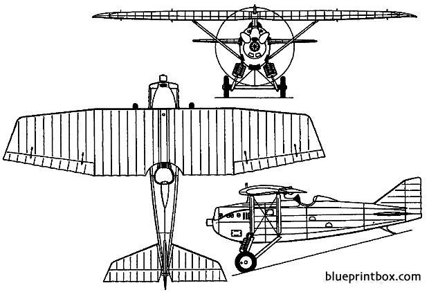 dewoitine d 1 1922 france model airplane plan