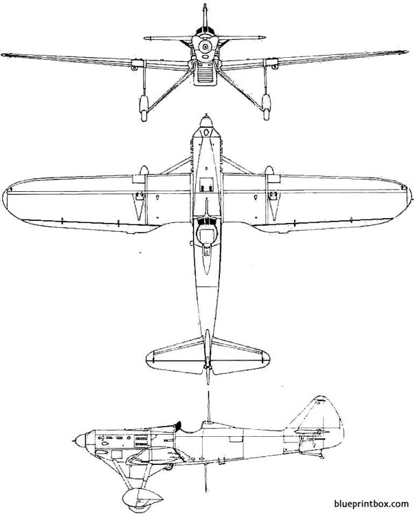 dewoitine d 510 model airplane plan