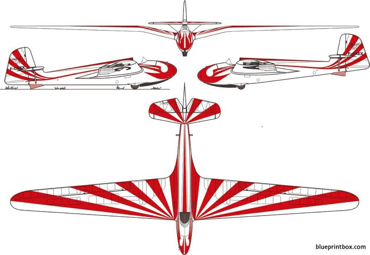 dfs 108 53e habicht 2 model airplane plan