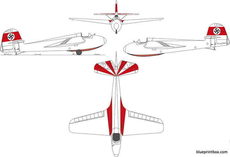 dfs 108 53g stummel habicht model airplane plan