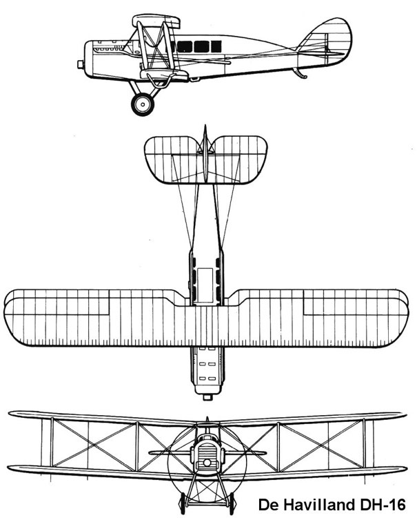 dh16 3v model airplane plan