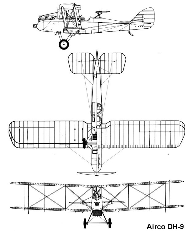 dh9 3v model airplane plan