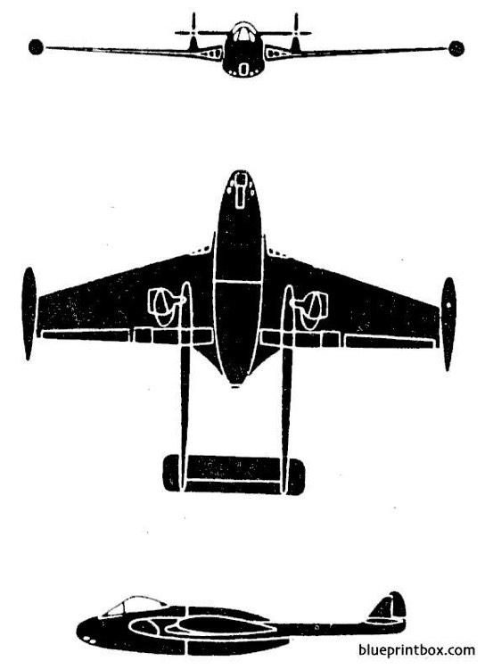 dh dh 100 venom model airplane plan