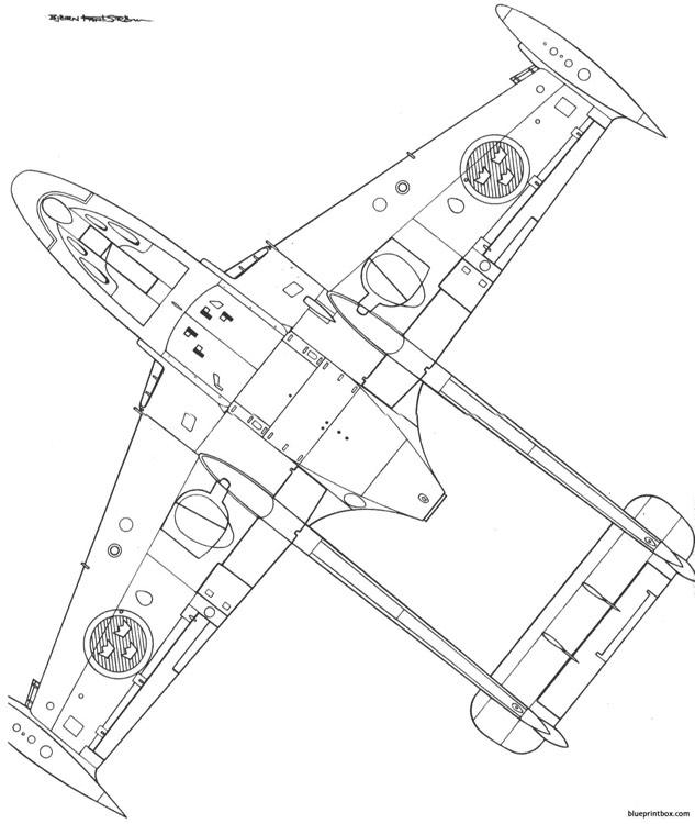 dh venom j 33 2 model airplane plan